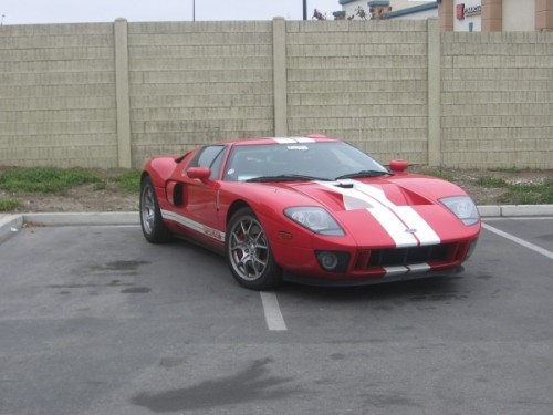 Red Ford GT in Salinas California